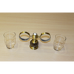 Настенный держатель-стаканчик двойной (bronze)