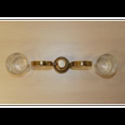 Настенный держатель-стаканчик двойной (gold)