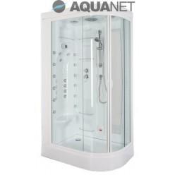 Душевая кабина Aquanet Hawaii 122×76 L, с паром и гидромассажем, стекло прозрачное