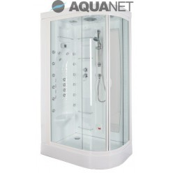 Душевая кабина Aquanet Hawaii 122×76 R, с паром и гидромассажем, стекло прозрачное