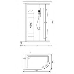 Душевая кабина Aquanet Sirius 120х90 R, стекло прозрачное