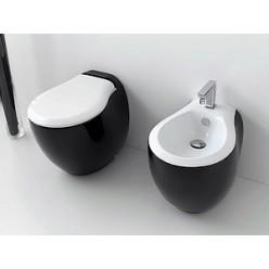 Биде напольное ArtCeram Blend BLB002 01;50 черное с белым