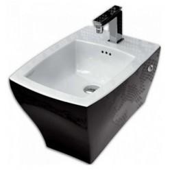 Биде подвесное ArtCeram Jazz JZB001 черное с белым