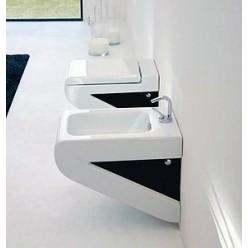Биде подвесное ArtCeram LaFontana LFB001 01;50 белое с черным