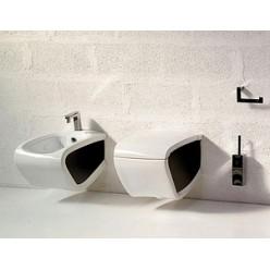 Биде подвесное Hidra Ceramica Hi-line белое с черным