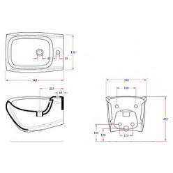 Биде подвесное Hidra Ceramica Hi-line черное