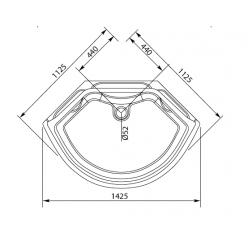 Душевая кабина Aquanet Taiti 110×110 без пара и гидромассажа, стекло прозрачное