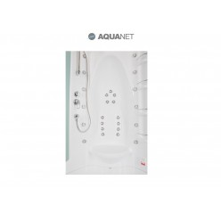 Душевая кабина Aquanet Taiti 110×110 с паром и гидромассажем, стекло матовое