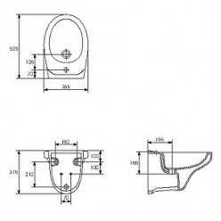 Комплект Биде подвесное Cersanit Delfi 82000 + Система инсталляции для биде Cersanit Link P-IN-BI-LINK + Смеситель Timo Zeta 0002F для биде + Сифон д
