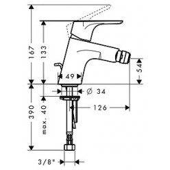 Комплект Биде подвесное Jacob Delafon Patio E4189 + Система инсталляции для биде Cersanit Link P-IN-BI-LINK + Смеситель Hansgrohe Focus E2 31920000 д