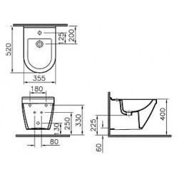 Комплект Биде подвесное VitrA S50 5324B003 + Система инсталляции для биде Cersanit Link P-IN-BI-LINK + Смеситель Hansgrohe Focus E2 31920000 для биде