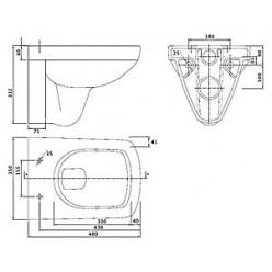 Комплект Инсталляция Geberit 458.124.21.1 3 в 1 + Чаша IFO Special + Крышка-сиденье IFO Special с микролифтом + шумоизоляция в подарок