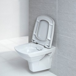 Комплект Унитаз подвесной Cersanit Carina new clean on + Система инсталляции для унитазов Sanit INEO Plus 90.721.00.S002 4 в 1 с кнопкой смыва