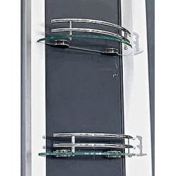Душевой бокс Eago DA324 HF3 задняя стенка серый металлик