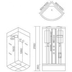 Душевая кабина Aqua Joy Modern AJ-3950 серая стенка