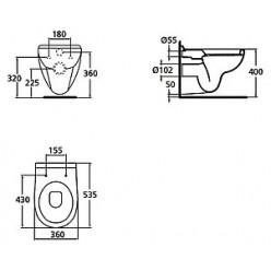 Унитаз подвесной Ideal Standard Areal W709501