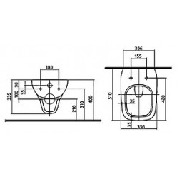 Унитаз подвесной IFO Sjoss Rimfree RP313200500 без внутреннего ободка