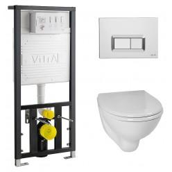 Комплект VitrA Arkitekt 9005B003-7211 кнопка хром