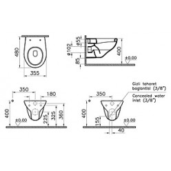 Унитаз подвесной VitrA Arkitekt 6105B003-0075