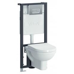 Комплект VitrA Form 300 9812B003-7203 кнопка хром