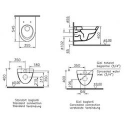 Унитаз подвесной VitrA Form 500 4305B003 с функцией биде