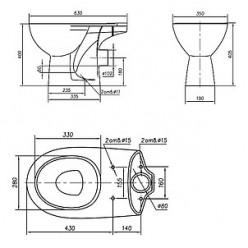Унитаз-компакт IFO Arret RS033612000