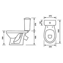 Унитаз-компакт Оскольская керамика Суперкомпакт декор одуванчик