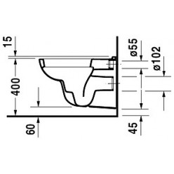 Унитаз подвесной Duravit D-Code 25350900002