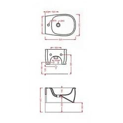 Биде подвесное ArtCeram Azuley AZB001