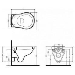 Унитаз подвесной Migliore ML.BLL-25.140.BI