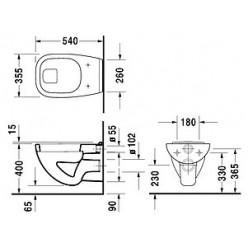 Унитаз подвесной Duravit D-Code 22100900002