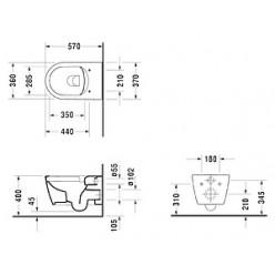 Унитаз подвесной Duravit ME by Starck 2529090000