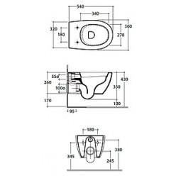 Унитаз подвесной Globo 4all MDS03.BI безободковый