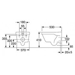 Комплект Унитаз подвесной Gustavsberg Hygienic Flush WWC 5G84HR01 безободковый + Система инсталляции для унитазов Jacob Delafon E5504-NF + Кнопка смы