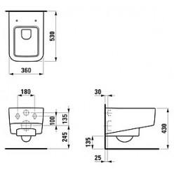 Комплект Laufen Pro S 8.2096.1 система инсталляции с кнопкой + унитаз с крышкой