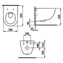 Комплект Система инсталляции для унитазов Roca DUPLO WC 89009000K + Кнопка смыва Roca PL1 Dual хром + Крышка-сиденье Laufen Pro 9695.1.300.000.1 с ми