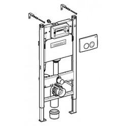 Комплект Система инсталляции для унитазов Geberit Duofix Delta 458.124.21.1 3 в 1 с кнопкой смыва + Крышка-сиденье Roca Gap 801472004 с микролифтом,