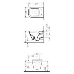 Унитаз подвесной Serel Diagonal DG 10