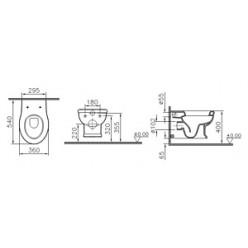 Унитаз подвесной VitrA Efes 5802B003-0075
