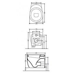 Унитаз подвесной Axa Normal 48 см