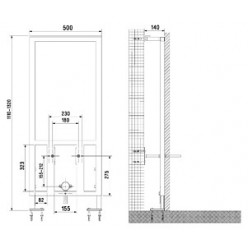 Комплект Биде Cersanit Delfi 82000 + Инсталляция для биде VitrA 780-5820 + Смеситель Timo Zeta 0002F для биде + Сифон для биде Geberit 151.108.11.1