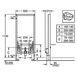 Комплект Биде подвесное Roca Dama Senso 357515000 + Система инсталляции для биде Grohe Rapid SL 38553001