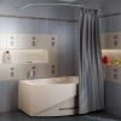 """Карниз Chrome для шторки на ванну """"Монти"""""""