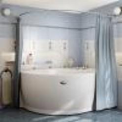 """Карниз Chrome для шторки на ванну """"Мелани"""""""