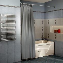Карниз Chrome прямой (2000 мм) для шторки на прямоугольную ванну