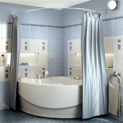 """Карниз Chrome для шторки на ванну """"Эмилия"""""""