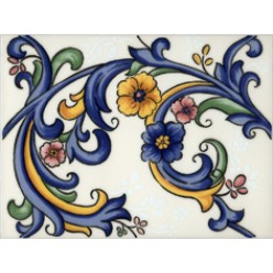 Galan flor Iris Плитка настенная 15x20