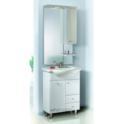 Мебель для ванной Aqwella Барселона Люкс 65 с бельевой корзиной