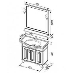 Мебель для ванной Aquanet Валенса 90 белая