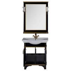 Мебель для ванной Aquanet Валенса 80 черный краколет/золото
